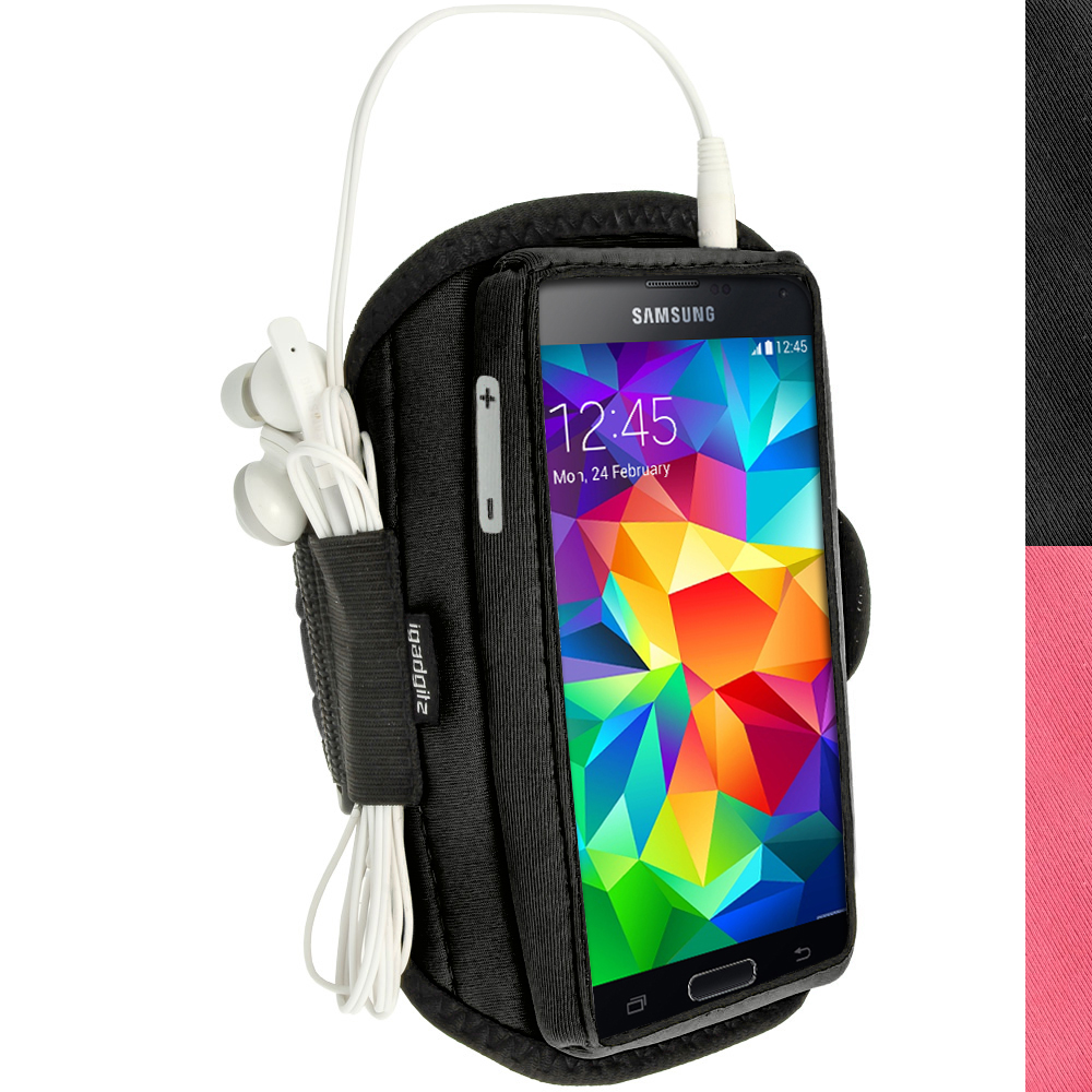 iGadgitz Water Resistant Neoprene Sports Armband for Samsung Galaxy S5 SV SM-G900 Jogging (various colours)