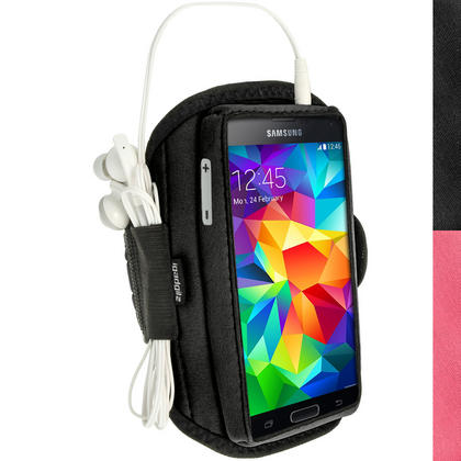 iGadgitz Water Resistant Neoprene Sports Armband for Samsung Galaxy S5 SV SM-G900 Jogging (various colours) Thumbnail 1