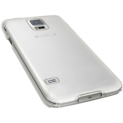iGadgitz Clear PC Hard Case Cover Shell for Samsung Galaxy S5 SV SM-G900 + Screen Protector Thumbnail 2