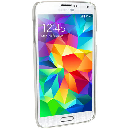 iGadgitz Clear PC Hard Case Cover Shell for Samsung Galaxy S5 SV SM-G900 + Screen Protector Thumbnail 3