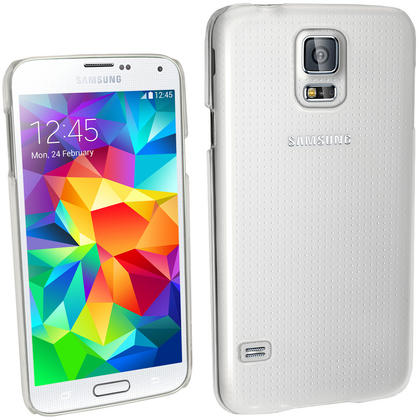 iGadgitz Clear PC Hard Case Cover Shell for Samsung Galaxy S5 SV SM-G900 + Screen Protector Thumbnail 1