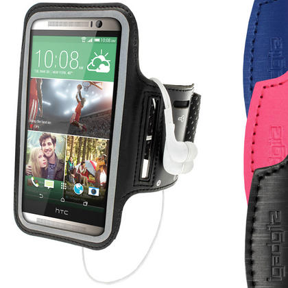 iGadgitz Anti-Slip Neoprene Sports Armband for HTC One M8 2014 Running Jogging Case Cover (various colours) Thumbnail 1
