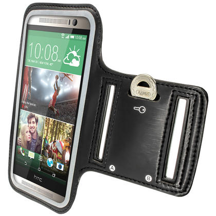 iGadgitz Anti-Slip Neoprene Sports Armband for HTC One M8 2014 Running Jogging Case Cover (various colours) Thumbnail 3