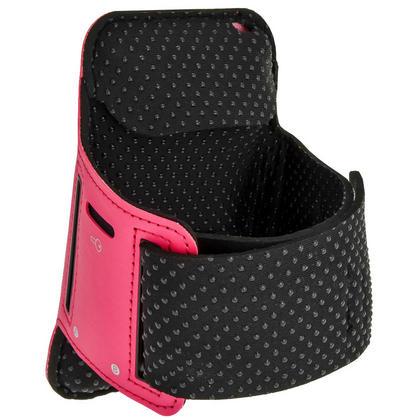 iGadgitz Reflective Anti-Slip Pink Sports Jogging Gym Armband for Sony Xperia M4 Aqua with Key Slot Thumbnail 2