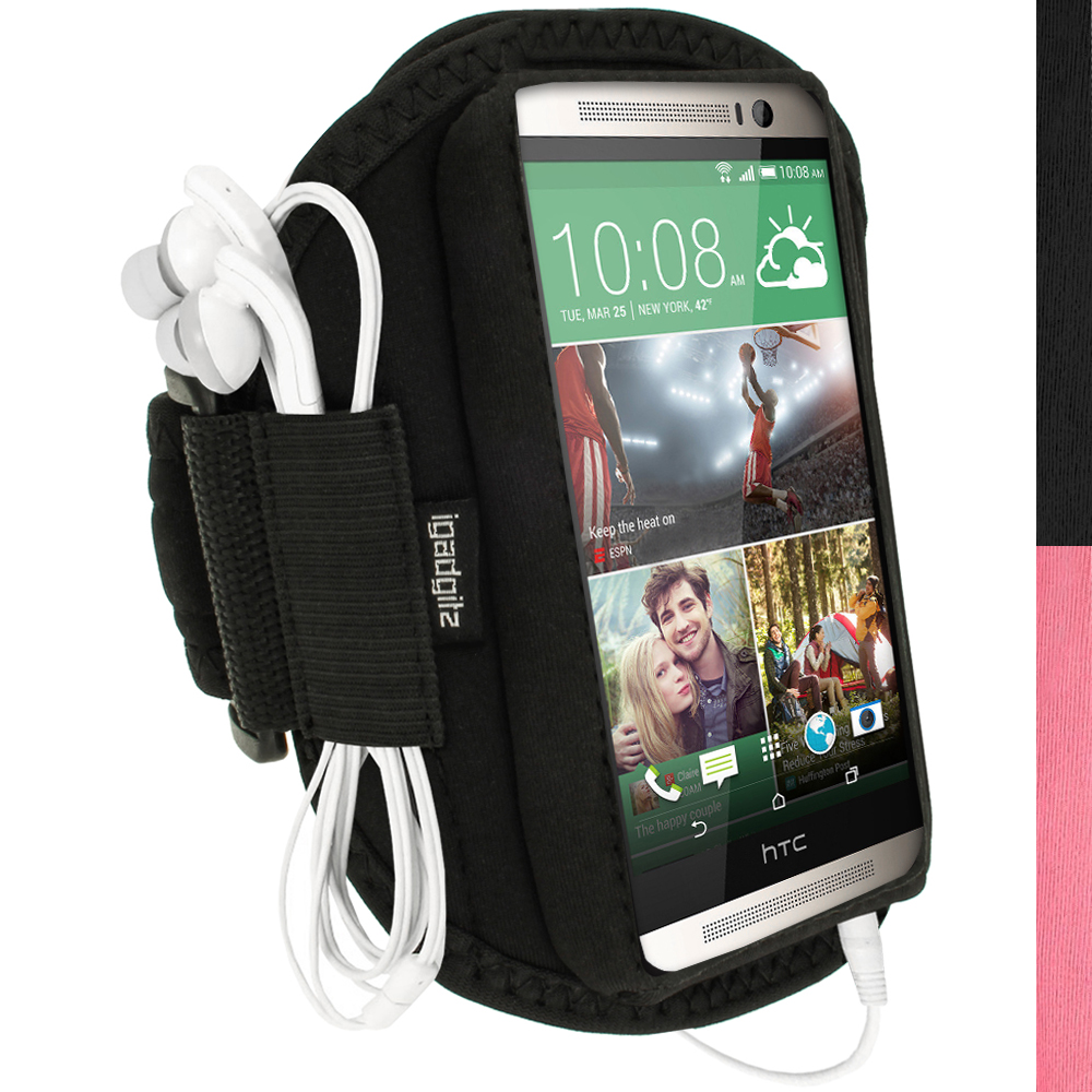 iGadgitz Neoprene Sports Running Armband for HTC One M8 2014 Case Cover Strap (various colours)