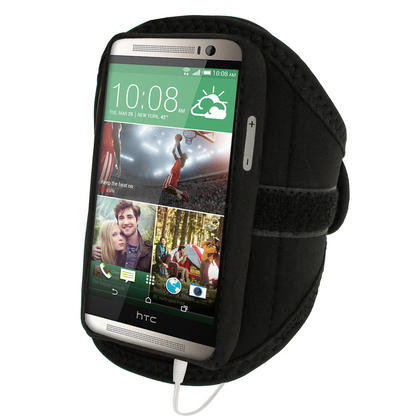 iGadgitz Neoprene Sports Running Armband for HTC One M8 2014 Case Cover Strap (various colours) Thumbnail 2