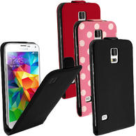 iGadgitz PU Leather Flip Case Cover Holder for Samsung Galaxy S5 SV SM-G900 + Screen Protector (various colours)