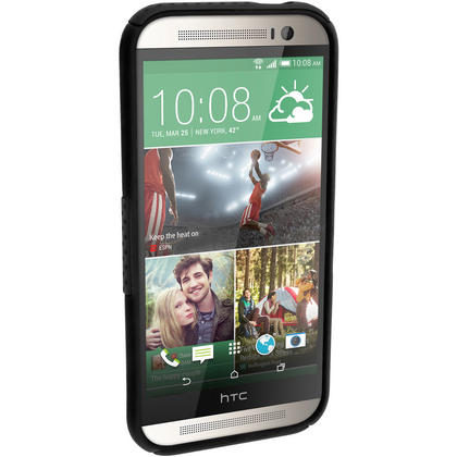 iGadgitz Silicone Skin Gel Case Cover & PC Mesh for HTC One M8 2014 + Screen Protector (various colours) Thumbnail 4