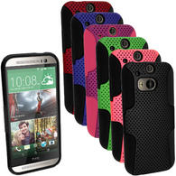 iGadgitz Silicone Skin Gel Case Cover & PC Mesh for HTC One M8 2014 + Screen Protector (various colours)