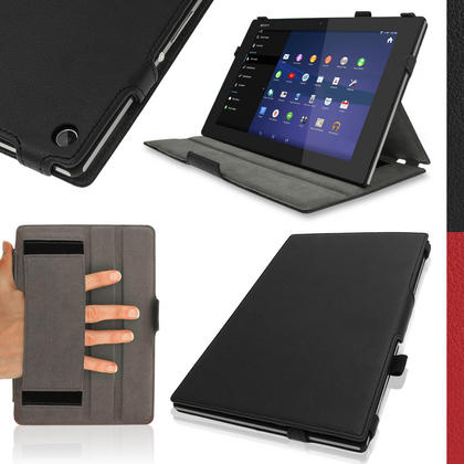 iGadgitz PU Leather Case for Sony Xperia Z2 SGP511 SGP512 SGP521 with Sleep/Wake, Stand + Screen Prot. (various colours) Thumbnail 1