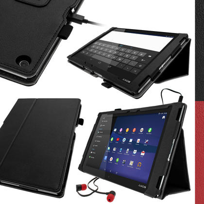 iGadgitz PU Leather Case for Sony Xperia Z2 Tablet SGP511 + Screen Protector (various colours) Thumbnail 1