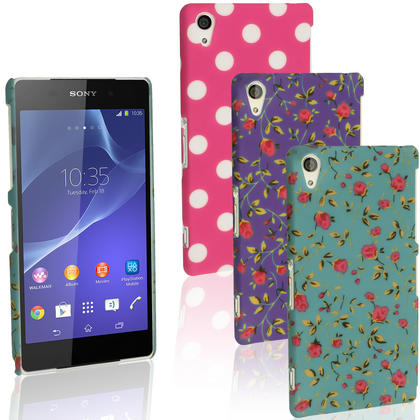 iGadgitz Hard Plastic Case Cover for Sony Xperia Z2 D6503 D6502 D6543 + Screen Protector (various colours) Thumbnail 1