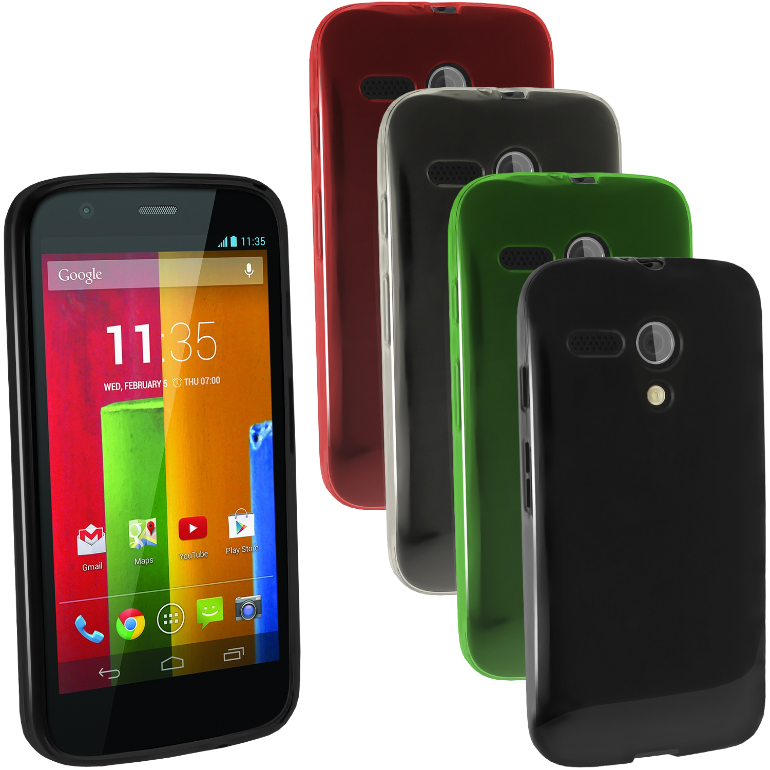super popular 42a6b 90858 Details about Glossy TPU Gel Skin Case Cover for Motorola Moto G 4G 1st  Generation XT1032 1039