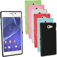 iGadgitz Glossy TPU Gel Case for Sony Xperia M2 D2303 D2305 D2306 + Screen Protector (various colours)