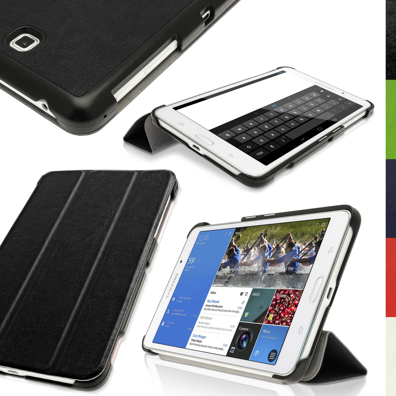 big sale 0138a 1a261 Dettagli su PU Cuoio Smart Cover per Samsung Galaxy Tab 4 7.0