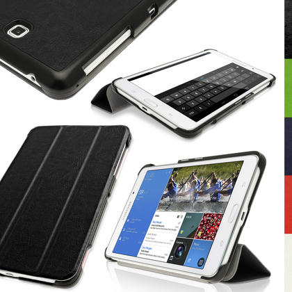 """iGadgitz PU Leather Smart Case for Samsung Galaxy Tab 4 7.0"""" SM-T230 SM-T235 + Screep Protector (various colours) Thumbnail 1"""
