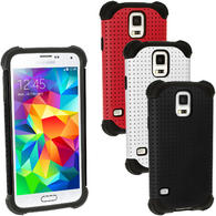 iGadgitz Silicone Skin Case & Mesh for Samsung Galaxy S5 SM-G900 SM-G900F SM-G900H + Screen Protector (various colours)