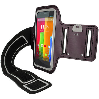 iGadgitz Running Jogging Sports Armband for Motorola Moto G X E Case Cover Fitness Gym (various colours) Thumbnail 3