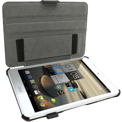 """iGadgitz PU Leather Skin Case Cover for Acer Iconia A1-830 7.9"""" Folio Stand + Hand Strap (various colours) Thumbnail 3"""