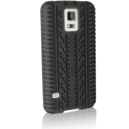 iGadgitz Black Tyre Skin Silicone Case Cover for Samsung Galaxy S5 SV SM-G900 SM-G900F SM-G900H + Screen Protector Thumbnail 6