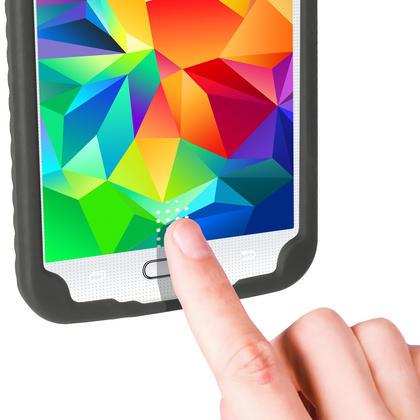 iGadgitz Black Tyre Skin Silicone Case Cover for Samsung Galaxy S5 SV SM-G900 SM-G900F SM-G900H + Screen Protector Thumbnail 3