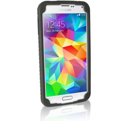 iGadgitz Black Tyre Skin Silicone Case Cover for Samsung Galaxy S5 SV SM-G900 SM-G900F SM-G900H + Screen Protector Thumbnail 5