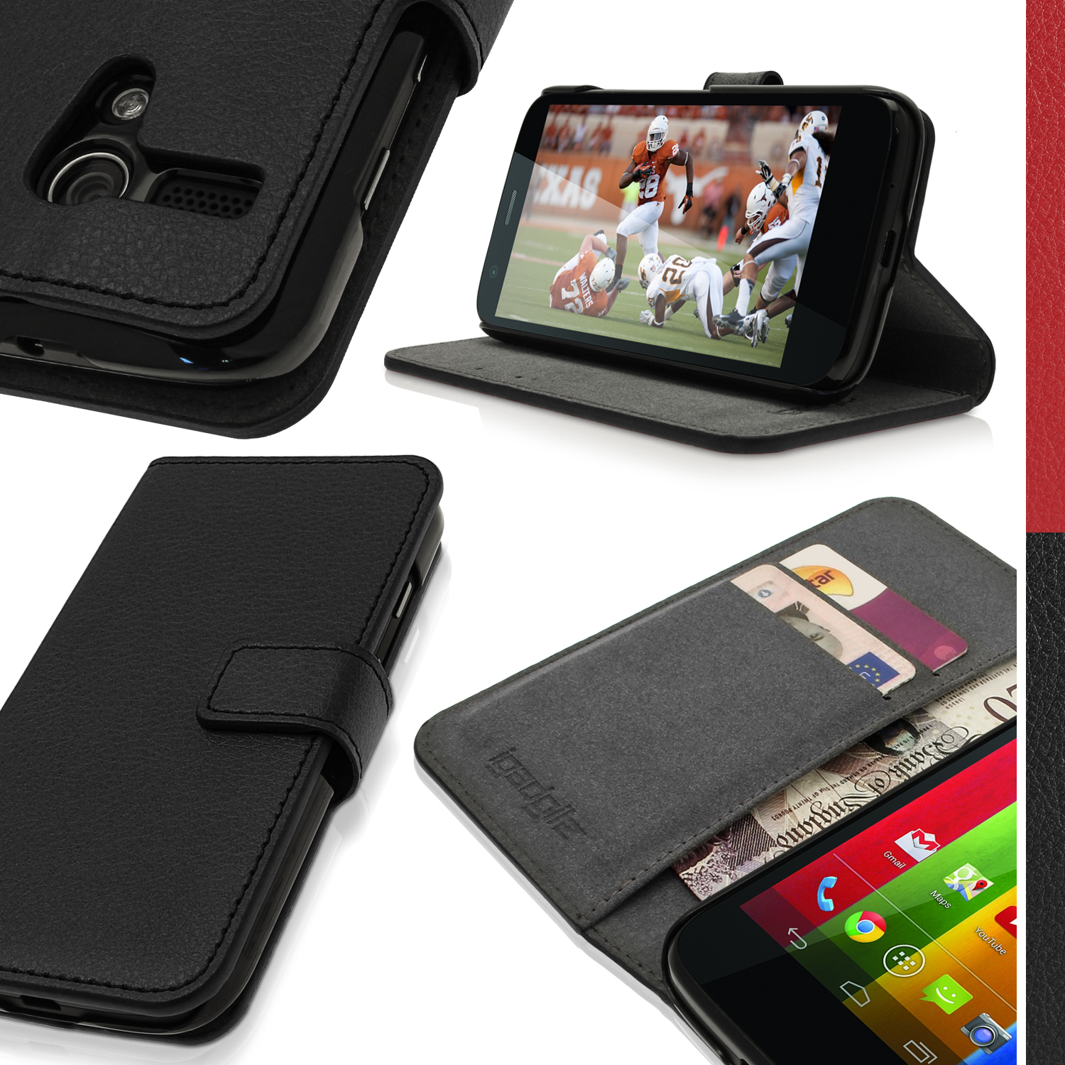 super popular 8f00e 5d726 Details about PU Leather Wallet Case for Motorola Moto G 4G 1st Gen XT1032  Flip Stand Cover