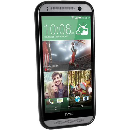 iGadgitz Glossy TPU Gel Case Cover for HTC One MINI 2 2014 + Screen Protector (various colours) Thumbnail 3