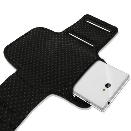 iGadgitz Sports Gym Running Armband for Sony Xperia M2 D2303 (various colours) Thumbnail 2