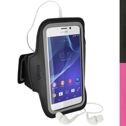 iGadgitz Sports Gym Running Armband for Sony Xperia M2 D2303 (various colours) Thumbnail 1