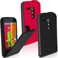 iGadgitz Leather Flip Case Cover for Motorola Moto G 4G 1st Generation XT1032 XT1033 + Screen Prot. (various colours)