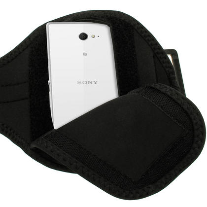 iGadgitz Black Sports Gym Running Armband for Sony Xperia M2 D2303 Thumbnail 3
