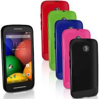 iGadgitz Glossy TPU Gel Case Cover for Motorola Moto E XT1021 XT1022 XT1025 + Screen Protector (various colours)