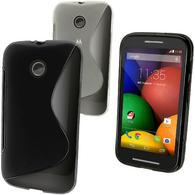 iGadgitz S-Line TPU Gel Case Cover for Motorola Moto E XT1021 XT1022 XT1025 + Screen Protector (various colours)