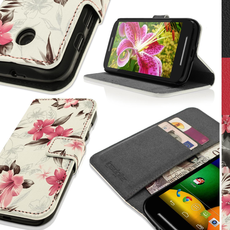d92cb2df5f6 PU Cuero Piel Tarjeta Funda Carcasa para Motorola Moto E Flip Case ...