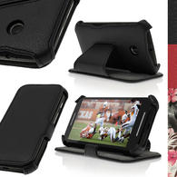iGadgitz PU Leather Wallet Case for Motorola Moto E XT1021 with Viewing stand + Screen Protector (various colours)