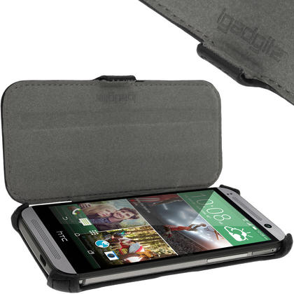 iGadgitz PU Leather Case for HTC One MINI 2 2014 with Viewing Stand + Screen Protector (various colours) Thumbnail 4
