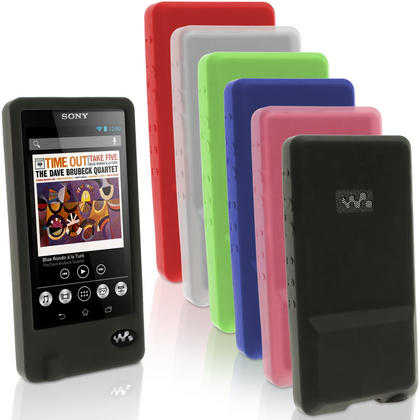 iGadgitz Rubber Silicone Gel Case for Sony Walkman NWZ-ZX1 + Screen Protector (various colours) Thumbnail 1