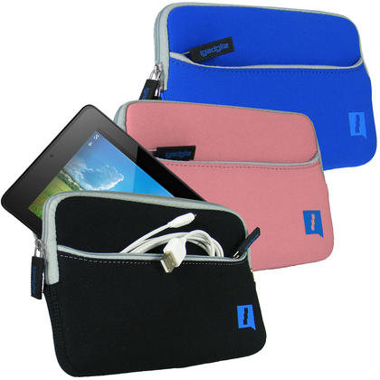 iGadgitz Neoprene Sleeve Case Cover with Front Pocket for Acer Iconia One 7 B1-730HD B1-750HD Tablet (various colours) Thumbnail 1