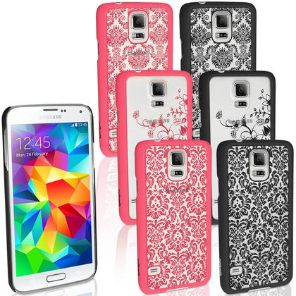 iGadgitz ?3D Designer Collection?? Pattern Hard Case for Samsung Galaxy S5 SV SM-G900 + Screen Prot. (various colours) Thumbnail 1
