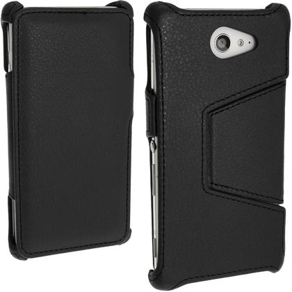 iGadgitz PU Leather Wallet Case for Sony Xperia M2 D2303 with Viewing stand + Screen Protector (various colours) Thumbnail 2