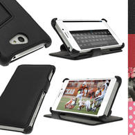 iGadgitz PU Leather Wallet Case for Sony Xperia M2 D2303 with Viewing stand + Screen Protector (various colours)
