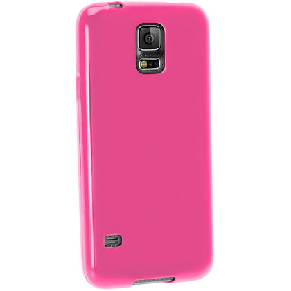 iGadgitz Glossy TPU Gel Case for Samsung Galaxy S5 SV MINI SM-G800F + Screen Protector (various colours) Thumbnail 4