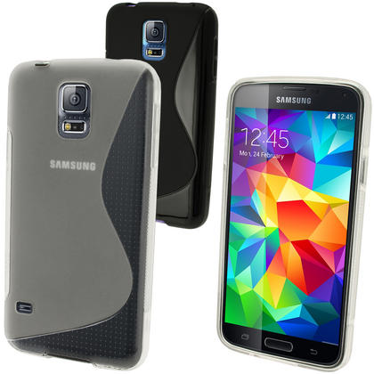 iGadgitz S-Line TPU Gel Case for Samsung Galaxy S5 SV MINI SM-G800F + Screen Protector (various colours) Thumbnail 2