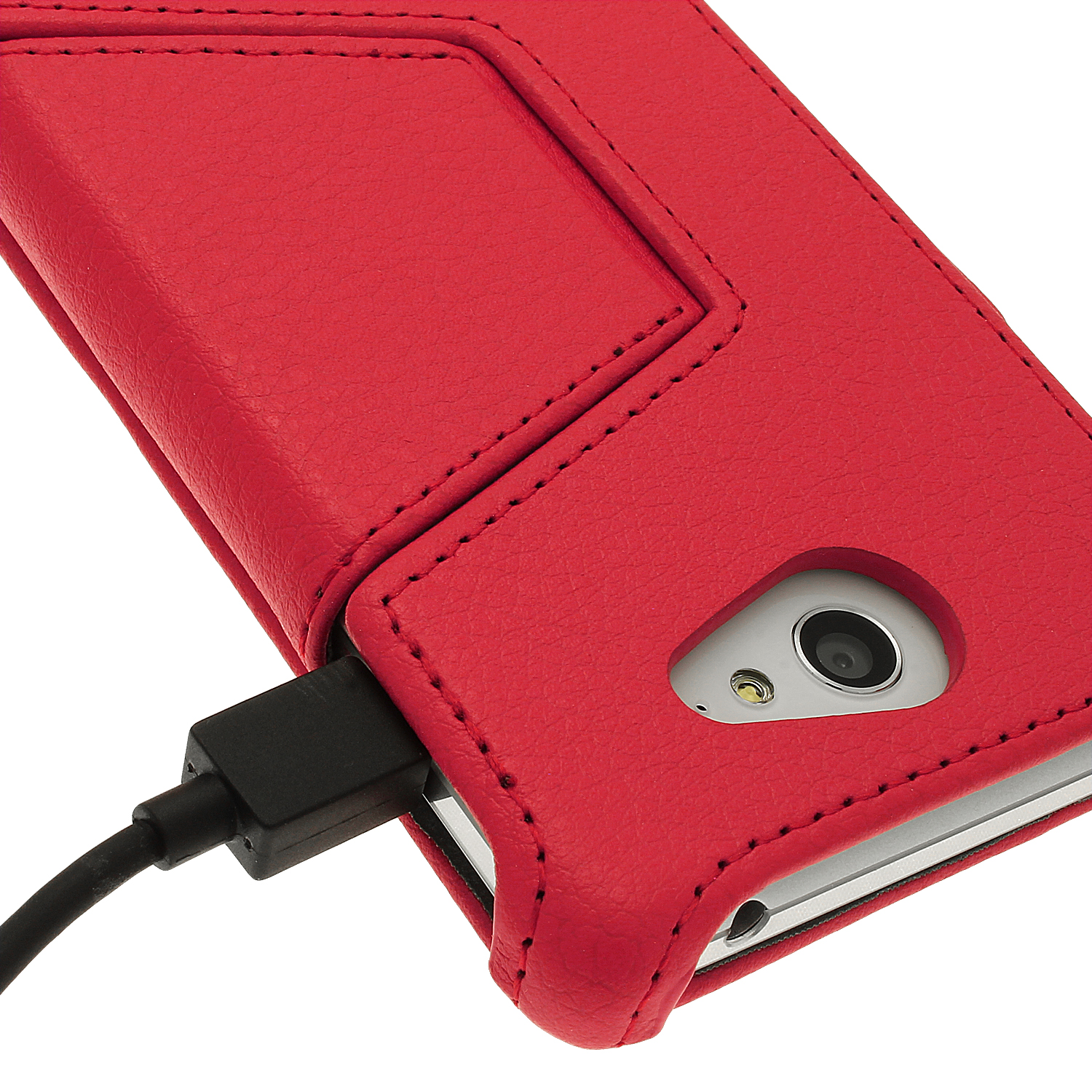 new styles 15259 46cc1 Details about PU Leather Skin Flip Case for Sony Xperia M2 D2303 Folio  Stand Cover Screen Prot