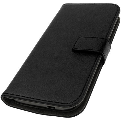iGadgitz Black PU Leather Wallet Case for HTC One MINI 2 2014 with Card Slots, Stand, Hand Strap + Screen Protector Thumbnail 3