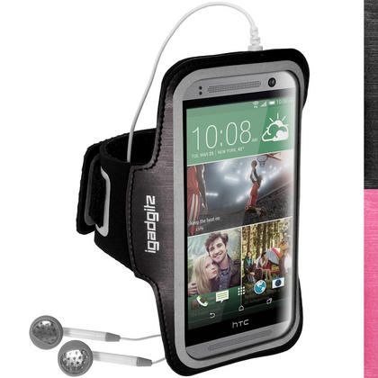 iGadgitz Reflective Anti-Slip Sports Jogging Gym Armband for HTC One MINI 2 2014 with Key Slot (various colours) Thumbnail 1