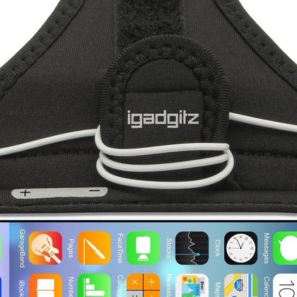 """iGadgitz Water Resistant Black Sports Jogging Gym Armband for Apple iPhone 6 & 6S 4.7"""" Thumbnail 3"""