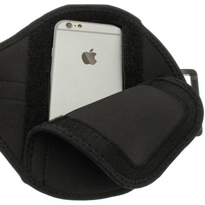 """iGadgitz Water Resistant Black Sports Jogging Gym Armband for Apple iPhone 6 & 6S 4.7"""" Thumbnail 5"""
