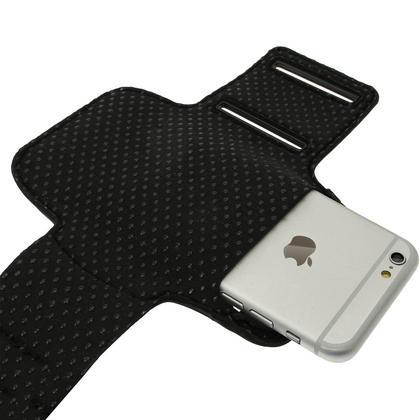 "iGadgitz Reflective Anti-Slip Sports Jogging Gym Armband for Apple iPhone 6 & 6S 4.7"" with Key Slot Thumbnail 2"